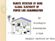 REMOTE  DETECTION  OF  USING  ILLEGAL  ELECTRICITY  BY