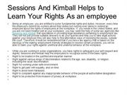 Sessions And Kimball Helps to Learn Your Rights As an employee