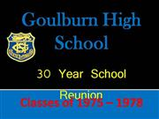 Glbn High School Reunion
