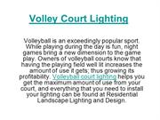 Volleyball Court Lighting
