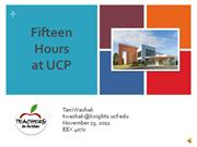 Fifteen Hours at UCP by Tani Washak