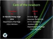 care of the newborn dr vijendra