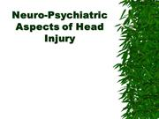 Neuro-Psychiatric Aspects of Head Injury