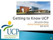 Getting to Know UCP