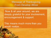Happy Thanksgiving From Develop Africa