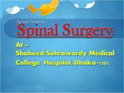 Spinal Surgery At Shaheed Suhrawardy Medical College Hospital