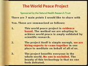 The world peace project