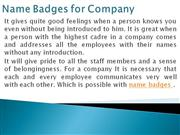 Name Badges for Company