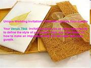 Unique Wedding Invitations That Will Impress Your Guests