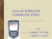 3G & 4G WIRELESS COMMUNICATION