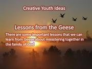 Youth Ministry Illustrations: Lessons From the Geese