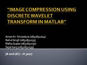 IMAGE COMPRESSION USING DISCRETE WAVELET TRANSFORM IN