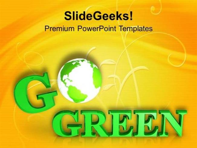 Nature save the earth with go green slogan ppt template powerpoint related powerpoint templates toneelgroepblik