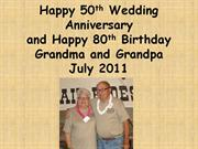 Happy 50th Wedding anniversary powerpoint