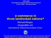 e-commerce in 3 landlocked nations