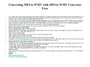 Converting MP4 to WMV with MP4 to WMV Converter Free