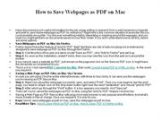 How to Save Webpages as PDF on Mac
