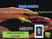Name reacn mechanism &