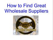 Great Wholesale Suppliers
