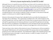 Alimony issues explained by Cordell