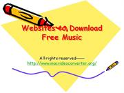 Websites to Download Free Music