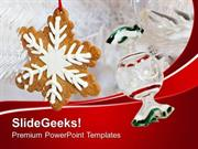 FOOD CHRISTMAS COOKIES FOR CELEBRATION PPT TEMPLATE