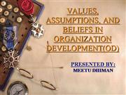 value,assumption,belief in OD