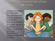 Stress and the Family in Ministry