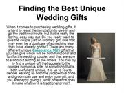 Finding the Best Unique Wedding Gifts