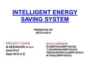 intelligent energy saving system