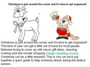 Christmas is just around the corner and it's time to get organised!