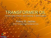 Handling & Disposal of Transformer Oil