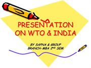 PRESENTATION ON WTO & INDIA