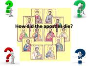 How did the apostles die 2 (2)