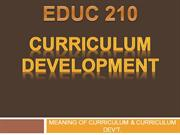 curriculum development meaning