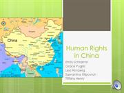 China Human Rights with Voice Over