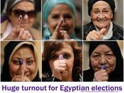 Elections in EGYPT - Hudge turnout