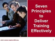 Principles of Training tcs