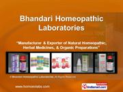 Bhandari Homeopathic Laboratories Haryana India