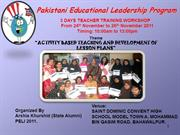 03-Days Teachers Training