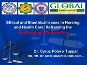 Ethical and Bioethical Issues in Nursing