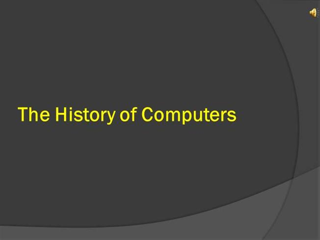 History of computers famous quotes about computers ppt video.