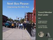 Next Bus Please: Improving the B61 Bus