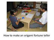 Origami instructions with timing