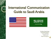 International Communication Guide to Saudi Arabia