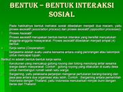 Bentuk-Bentuk Interaksi Sosial