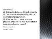 Question_20 international procurement