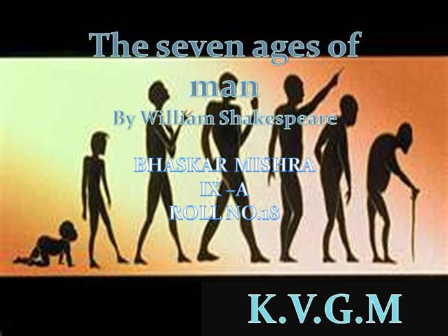 Seven Ages of Man William Shakespeare Seven Ages of Man