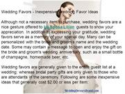 Wedding Favors - Inexpensive Wedding Favor Ideas