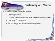 Sustaining our Vision2